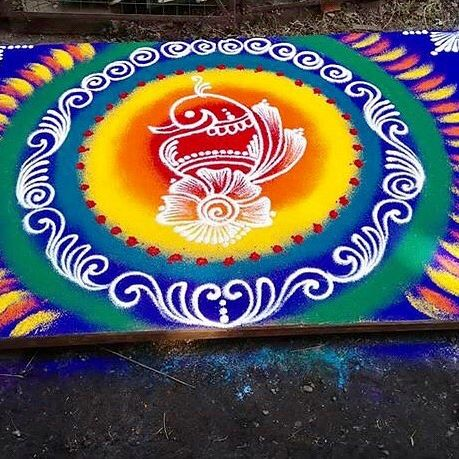 What is the reason for Drawing Rangoli?