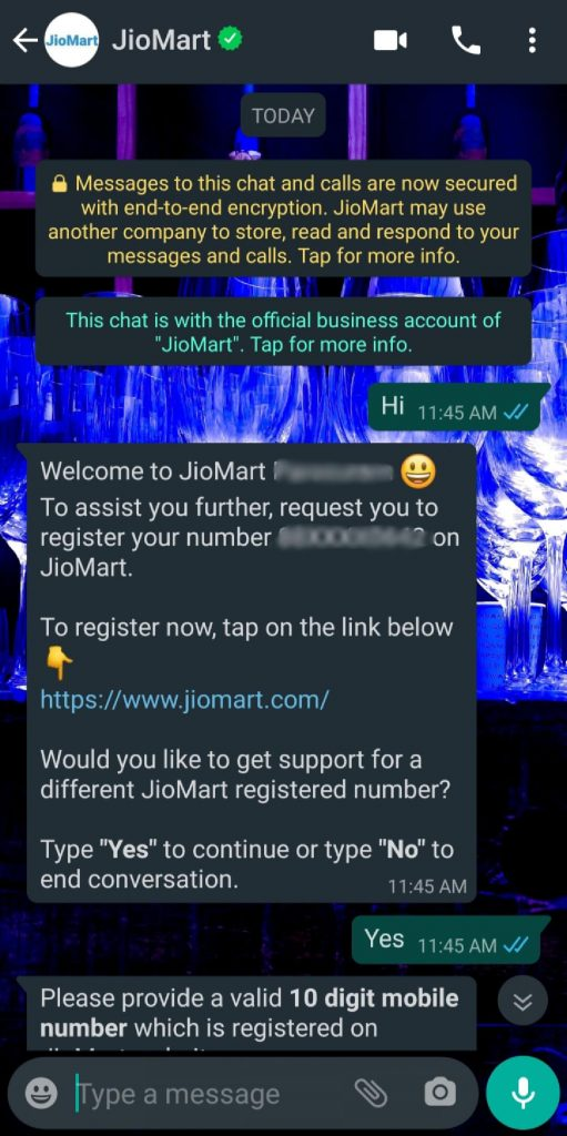 JioMart is an online selling channel