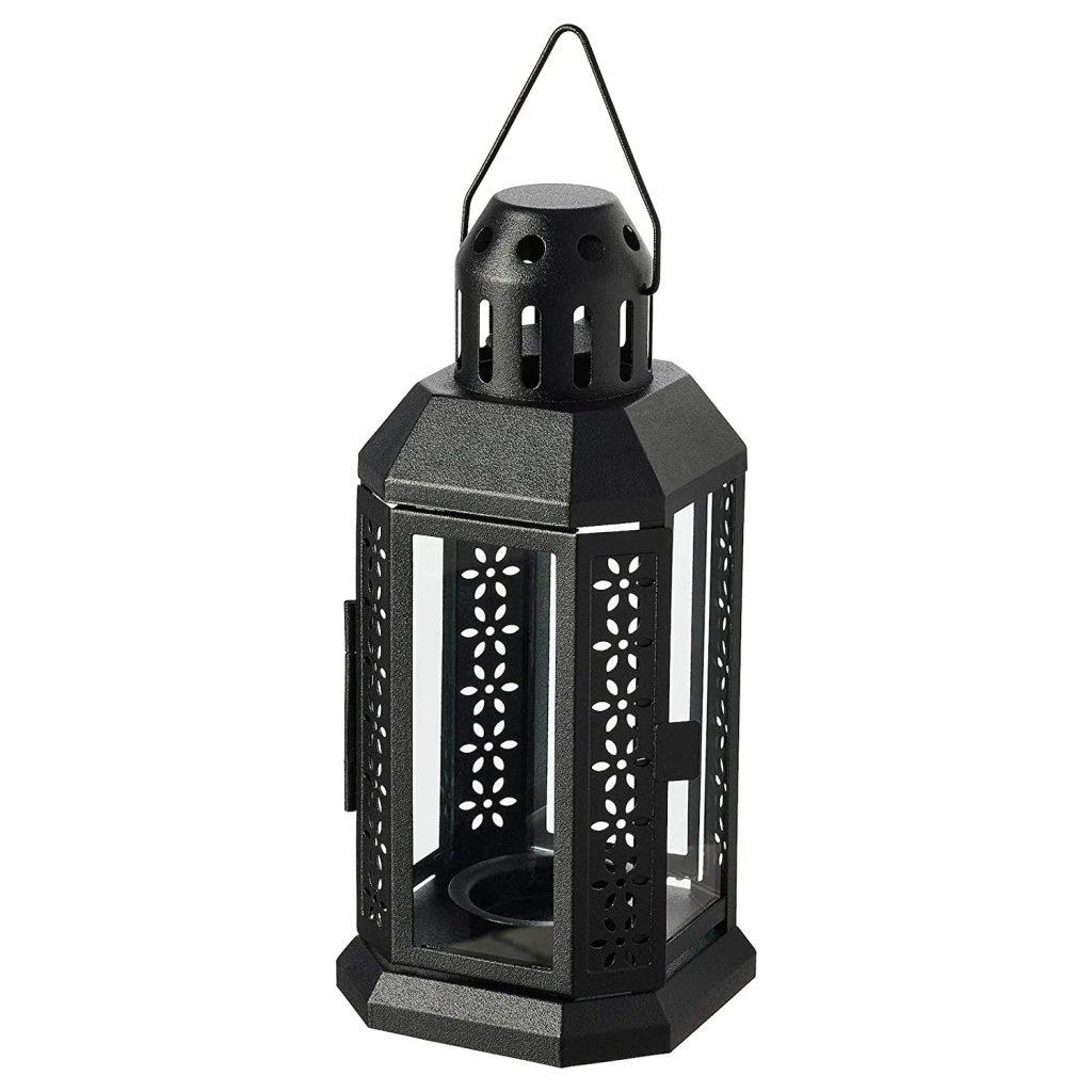 """Digital Shoppy IKEA Lantern for Tealight, in/Outdoor, Black, 22 cm (8 ¾"""")"""