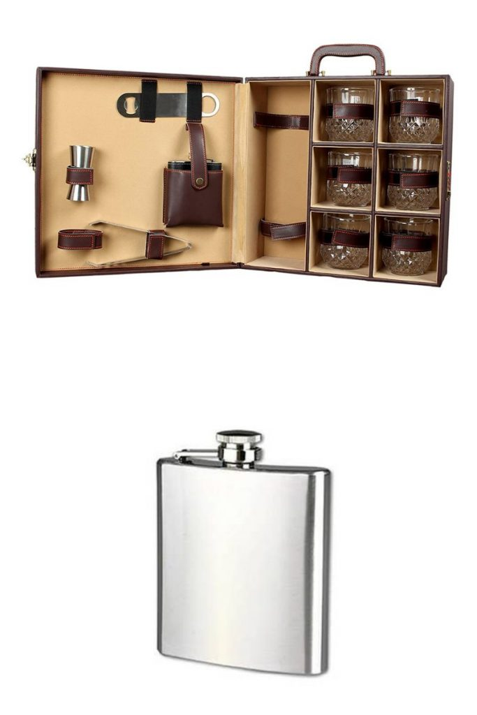 For friends and family who love drinks and mixology, get the Telconi Mega Bar Set. For a budget-friendly yet a high-quality option, get this sleek and timeless Dynore Stainless Steel Hip Flask.