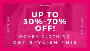 30%-70% Diwali Discount on Women Clothing – Get stylish this Diwali Festival