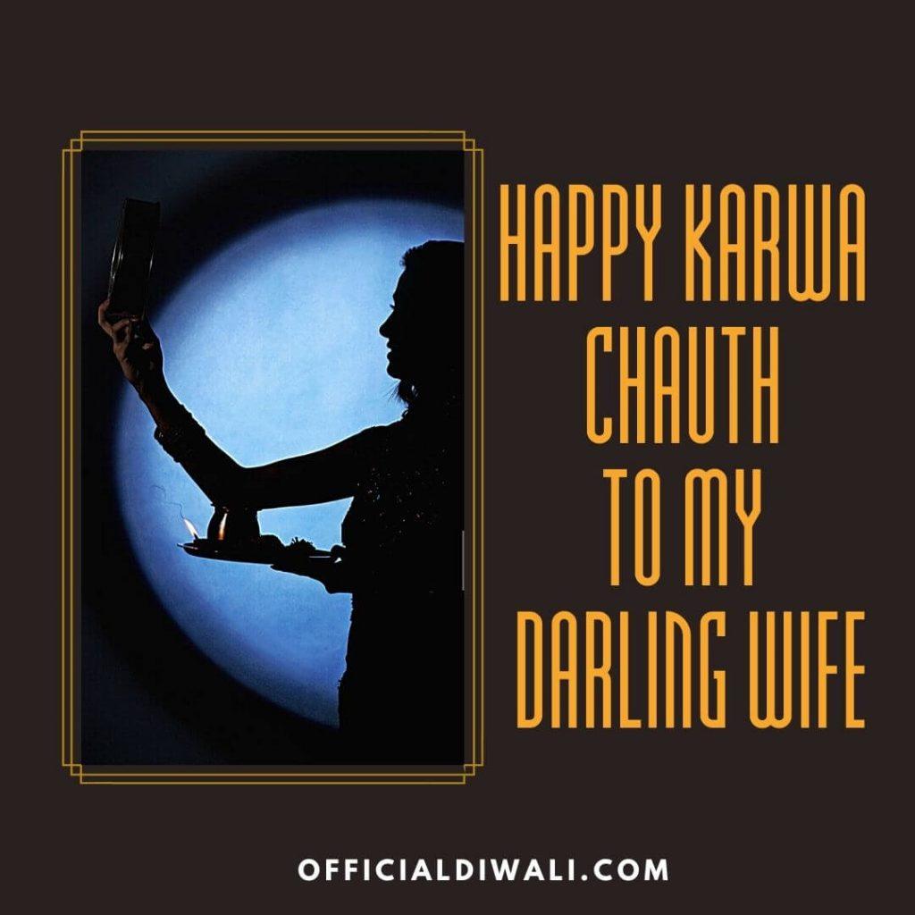 Happy Karwa Chauth to my darling wife officialdiwali.com