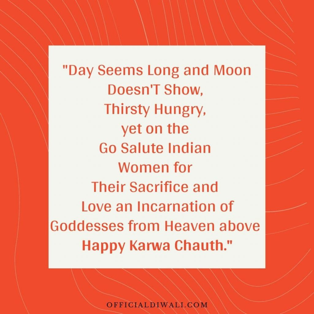 Love an Incarnation of Goddesses from Heaven above Happy Karwa Chauth officialdiwali.com
