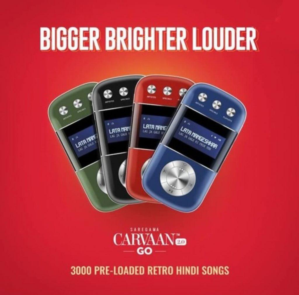 Saregama Carvaan Go 2.0-3000 Pre-Loaded Retro Hindi Songs.