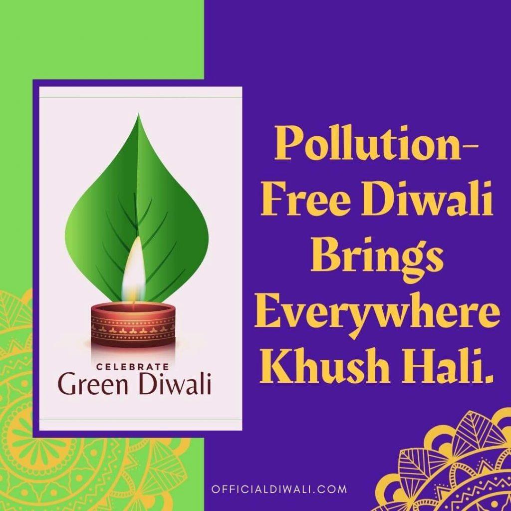 Pollution-Free Diwali Brings Everywhere Khush Hali OFFICIALDIWALI.COM